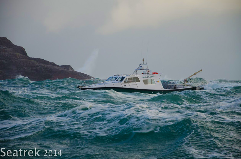 Lochlann in rough seas