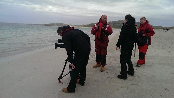 Filming at Reef Beach